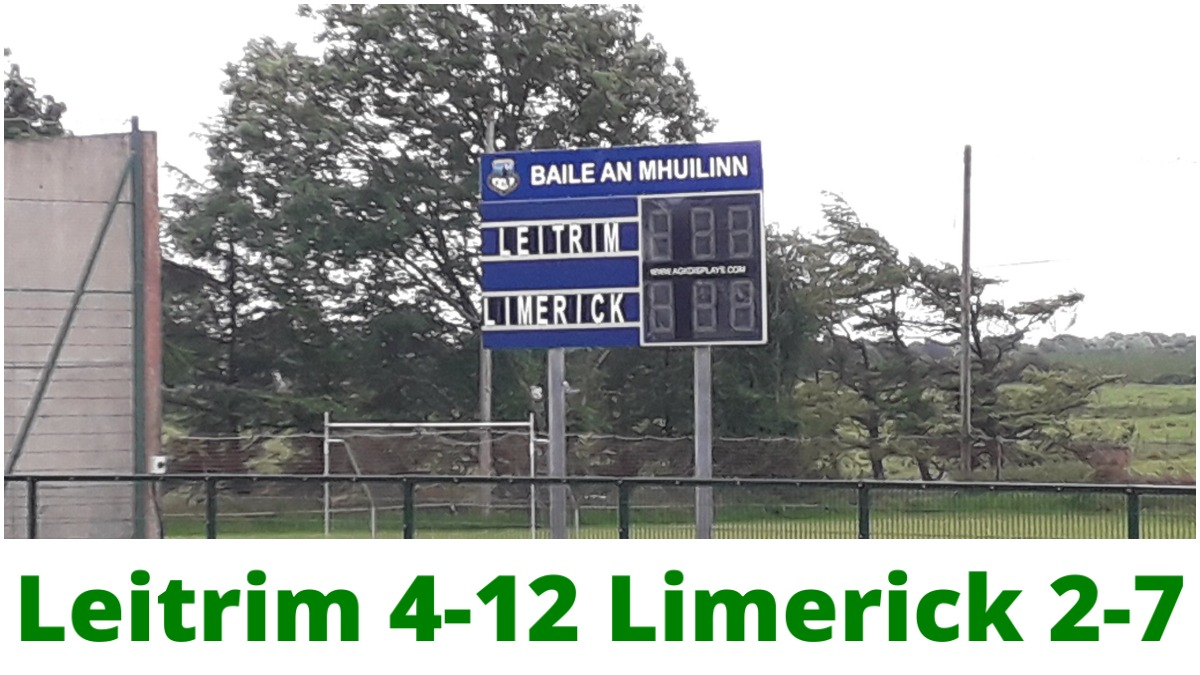 FOOTBALL: Leitrim 4-12 Limerick 2-7 – Lidl NFL Division 4 Semi-Final