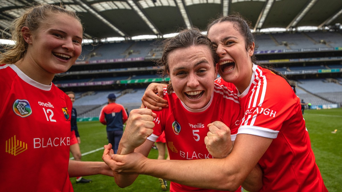 """CAMOGIE: """"This year, we can go for a coffee, or have a chat and get to know one another, and I think you can see that in how we are working for one another"""" – Hannah Looney"""