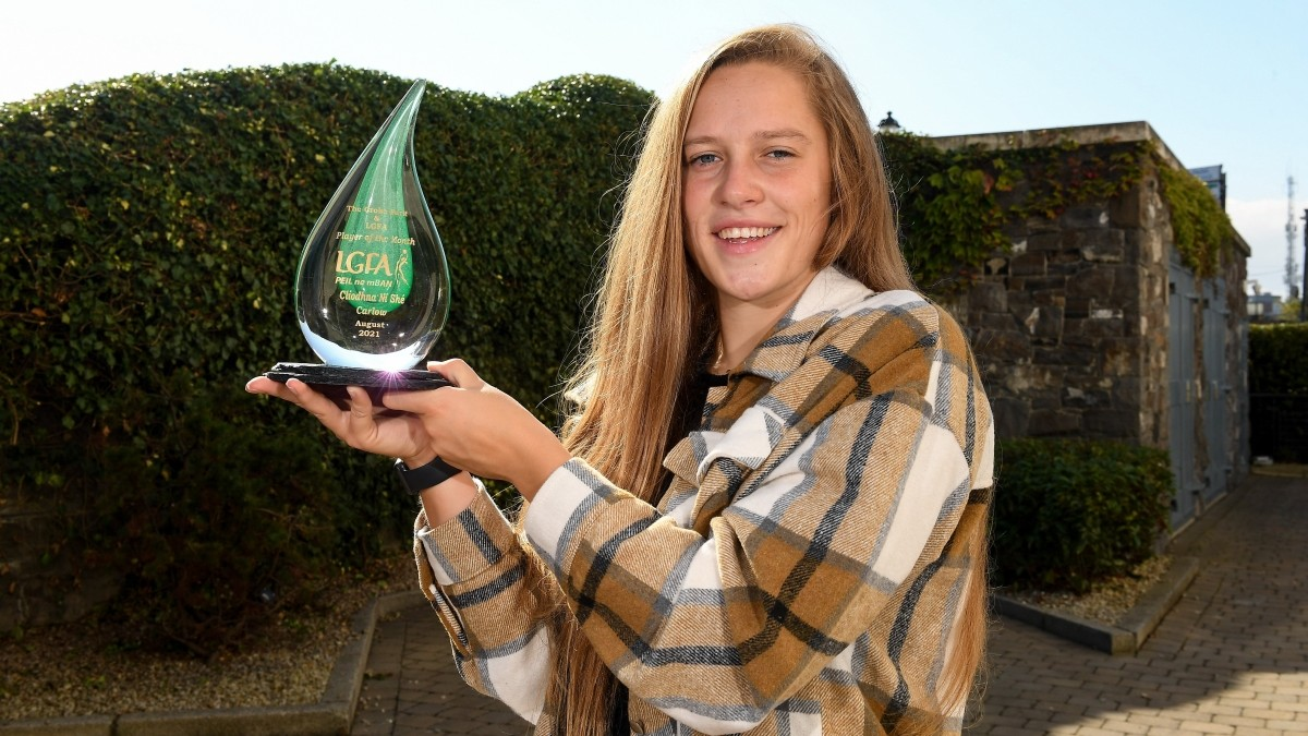 FOOTBALL: Carlow's Clíodhna Ní Shé is The Croke Park/LGFA Player of the Month for August