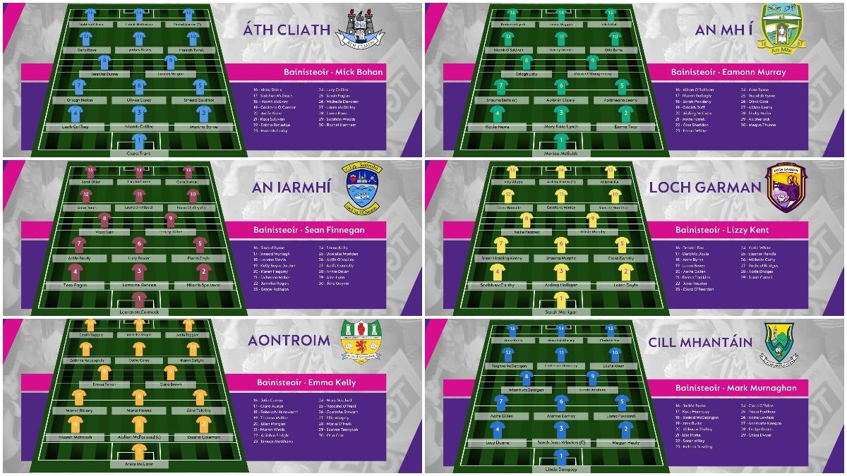 FOOTBALL: Teams for 2021 TG4 All-Ireland Championship Finals